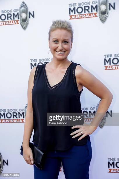 Jane Bunn arrives ahead of The Book of Mormon opening night at Princess Theatre on February 4 2017 in Melbourne Australia
