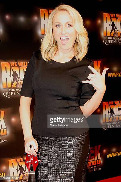 Jane Bunn arrives ahead of the We Will Rock You Melbourne premiere at Regent Theatre on September 1 2016 in Melbourne Australia