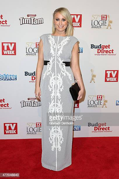 Jane Bunn arrives at the 57th Annual Logie Awards at Crown Palladium on May 3 2015 in Melbourne Australia
