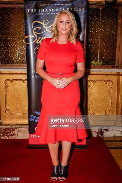 Jane Bunn arrives for opening night of the Shanghai Ballet's production of Swan Lake at Regent Theatre on April 21 2017 in Melbourne Australia