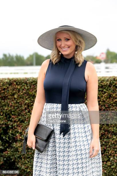 Jane Bunn attends Caulfield Cup Day at Caulfield Racecourse on October 21 2017 in Melbourne Australia