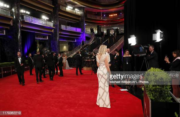 Jane Bunn is seen during the 2019 Kennedy Brownlow Red Carpet arrivals at Crown Palladium on September 23 2019 in Melbourne Australia