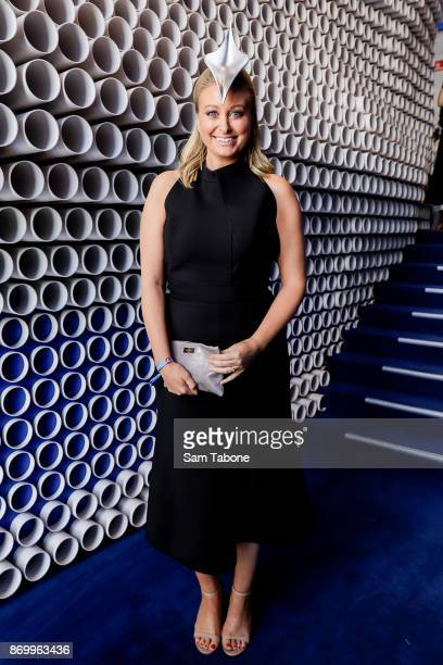 Jane Bunn poses at the Emirates Marquee on Derby Day at Flemington Racecourse on November 4 2017 in Melbourne Australia