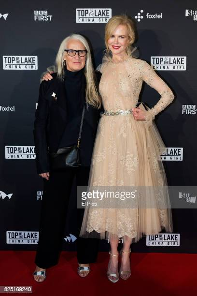 Jane Campion and Nicole Kidman arrive ahead of the Top of the Lake China Girl Australian Premiere at Sydney Opera House on August 1 2017 in Sydney...