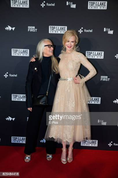 Jane Campion and Nicole Kidman arrive ahead of the Top of the Lake: China Girl Australian Premiere at Sydney Opera House on August 1, 2017 in Sydney,...