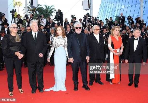 Jane Campion David Lynch Isabelle Huppert Pedro Almodovar George Miller Catherine Deneuve and Roman Polanski attend the 70th Anniversary of the 70th...