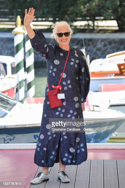 Jane Campion is seen arriving at the 78th Venice International Film Festival on September 02, 2021 in Venice, Italy.