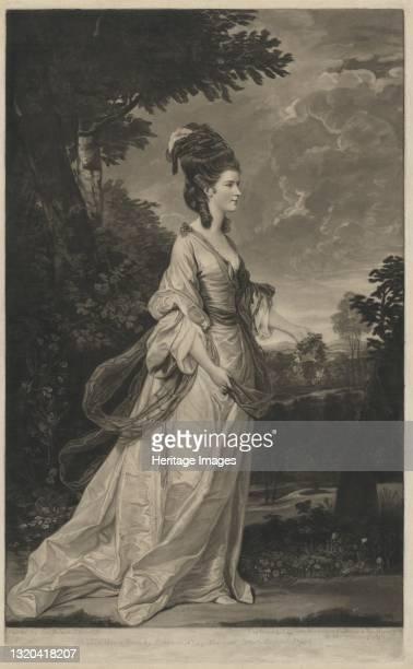 Jane , Countess of Harrington, 1780. Artist Valentine Green.
