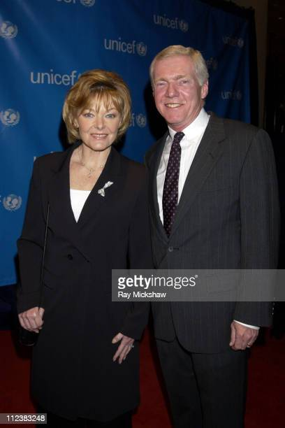 Jane Curtin and husband Patrick Lynch during UNICEF Goodwill Gala Celebrating 50 Years of Celebrity Goodwill Ambassadors Red Carpet at The Beverly...