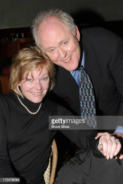 Jane Curtin and John Lithgow during The Retreat From Moscow Opening on Broadway at Laura Belle Supper Club in New York City New York United States