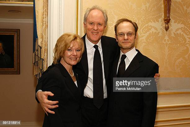 Jane Curtin John Lithgow and David Hyde Pierce attend National Corporate Theatre Fund 2005 Annual Chairman Awards Gala at Essex House on April 4 2005...