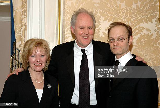 Jane Curtin John Lithgow and David Hyde Pierce during 2005 National Corporate Theatre Fund Annual Gala at Essex House in New York City New York...