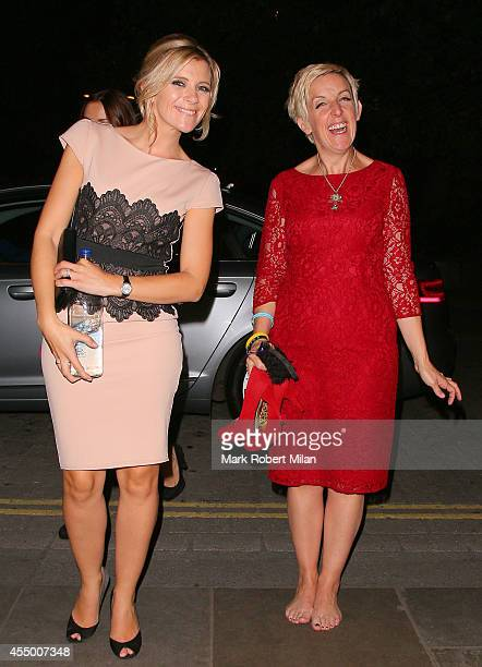 Jane Dawson and Julie Hesmondhalgh at the TV Choice awards on September 8 2014 in London England