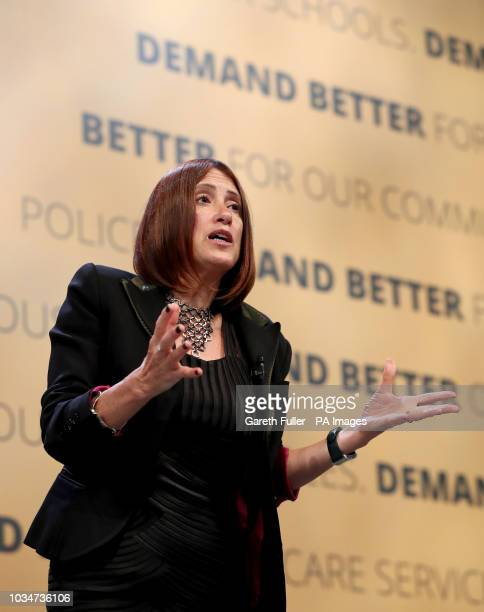 Jane Dodds Leader of the Welsh Liberal Democrats delivers her speech at the Liberal Democrat Autumn Conference in Brighton