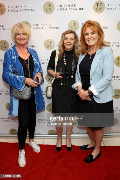 Jane Felstead Guest and Sarah Ferguson Duchess of York attend the UK launch of The Female Social Network at The Ivy on June 26 2019 in London England...