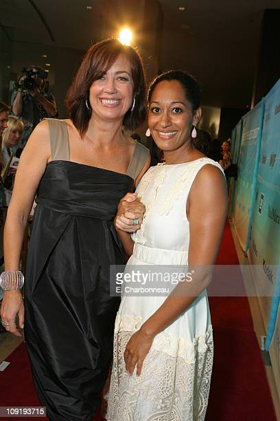 Jane Fleming and Tracee Ellis Ross during Women In Film Presents The Best of the Best The 2007 Crystal Lucy Awards Red Carpet in Los Angeles...