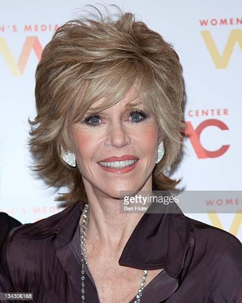 Jane Fonda actress writer political activist former fashion model and fitness guru attends the Women's Media Center 2011 Women's Media awards at...