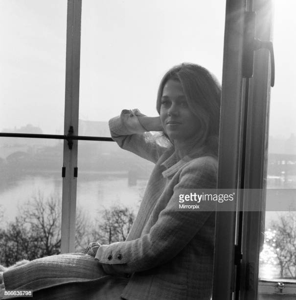 Jane Fonda american actress in the UK to promote her starring role in new film Circle of Love aka La Ronde pictured at The Savoy Hotel London...