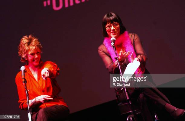 Jane Fonda and Eve Ensler during VDAY Atlanta 2004 at The CocaCola Roxy Theatre in Atlanta Georgia United States