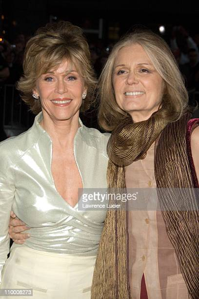Jane Fonda and Gloria Steinem during Georgia Rule New York City Premiere - Outside Arrivals at Ziegfeld Theater in New York City, New York, United...