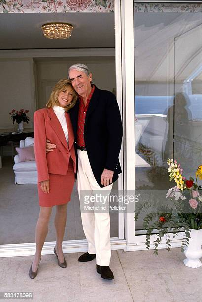Jane Fonda and Gregory Peck are at the 1989 Cannes Film Festival to present the 1989 American film Old Gringo directed by Luis Puenzo