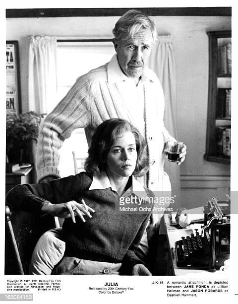 Jane Fonda and Jason Robards in a scene from the film 'Julia' 1977