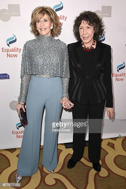 Jane Fonda and Lily Tomlin attend Equality Now's 3rd Annual Make Equality Reality Gala Arrivals at Montage Beverly Hills on December 5 2016 in...