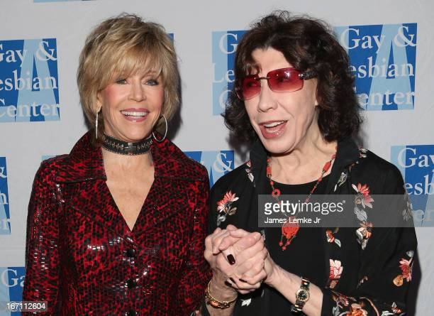 Jane Fonda and Lily Tomlin attend The LA Gay Lesbian Center's Lily Tomlin/Jane Wagner Cultural Arts Center Presents Conversations With Coco With...