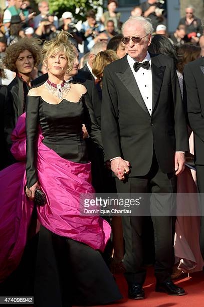 Jane Fonda and Michael Caine attend the Youth Premiere during the 68th annual Cannes Film Festival on May 20 2015 in Cannes France