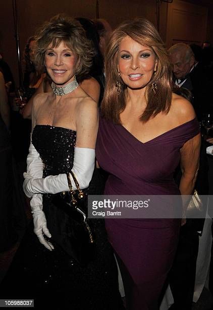 Jane Fonda and Raquel Welch attend The 32nd Annual Carousel Of Hope Ball Cocktail Reception at The Beverly Hilton hotel on October 23 2010 in Beverly...