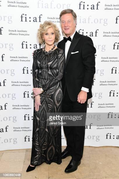 Jane Fonda and Sebastien Bazin attend FIAF Trophee des Arts Gala at The Plaza Hotel on November 12 2018 in New York City