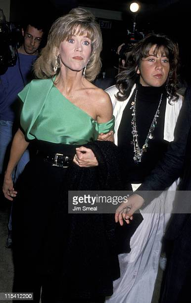Jane Fonda and Vanessa Vadim during Vira Awards at Ma Maison in Los Angeles California United States