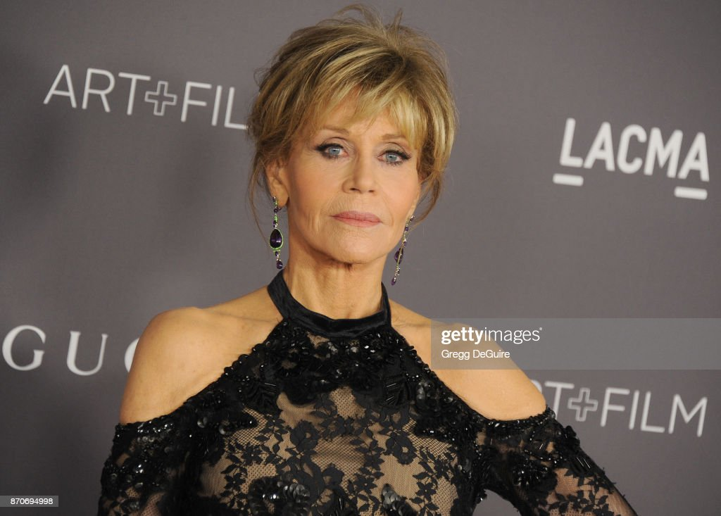 Jane Fonda arrives at the 2017 LACMA Art + Film Gala honoring Mark Bradford and George Lucas at LACMA on November 4, 2017 in Los Angeles, California.