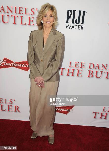 Jane Fonda arrives at the 'Lee Daniels' The Butler' Los Angeles Premiere at Regal Cinemas LA Live on August 12 2013 in Los Angeles California