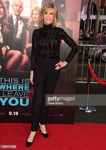 """Jane Fonda arrives at the """"This Is Where I Leave You"""" - Los Angeles Premiere at TCL Chinese Theatre on September 15, 2014 in Hollywood, California."""