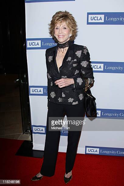 Jane Fonda arrives at the UCLA Longevity Center ICON Awards held at The Beverly Hilton hotel on June 4 2011 in Beverly Hills California