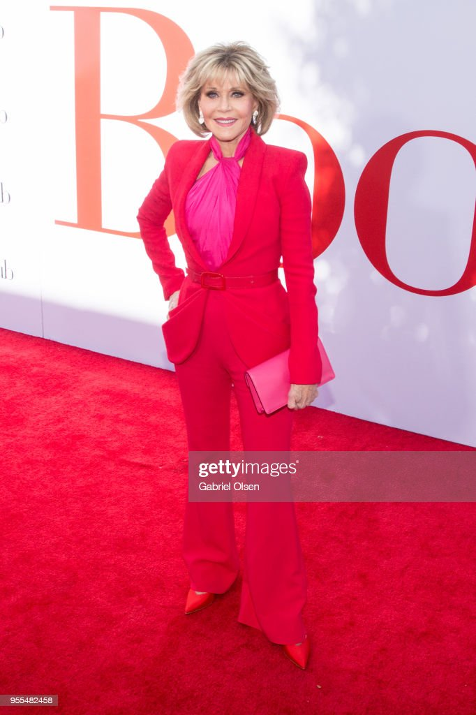 Jane Fonda arrives for Paramount Pictures' premiere of 'Book Club' at Regency Village Theatre on May 6, 2018 in Westwood, California.