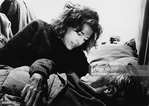 Jane Fonda as Lillian Hellman and Jason Robards as Dashiell Hammett in the 1977 film Julia