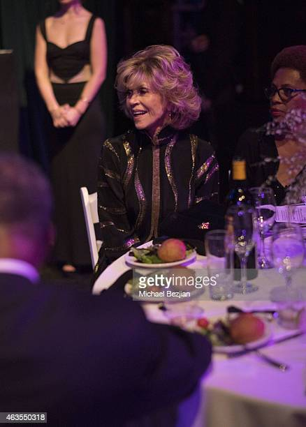 Jane Fonda attends 1st Hollywood Beauty Awards Presented By LATF And Benefiting Children's Hospital Los Angeles at The Fonda Theatre on February 15...