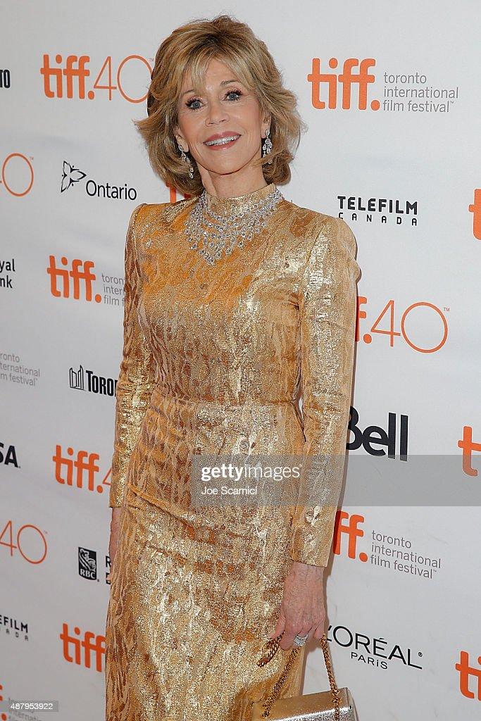 Jane Fonda attends 2015 Toronto International Film Festival - 'Youth' Premiere at The Elgin on September 12, 2015 in Toronto, Canada.