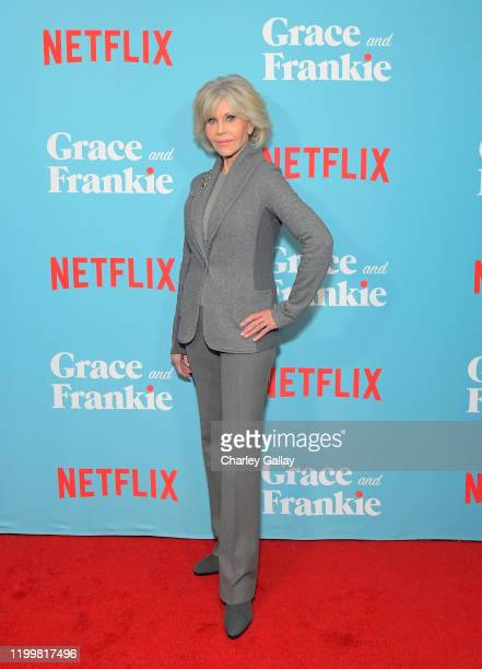 "Jane Fonda attends a special screening of ""Grace and Frankie Season 6"", presented by Netflix, on January 15, 2020 in Los Angeles, California."