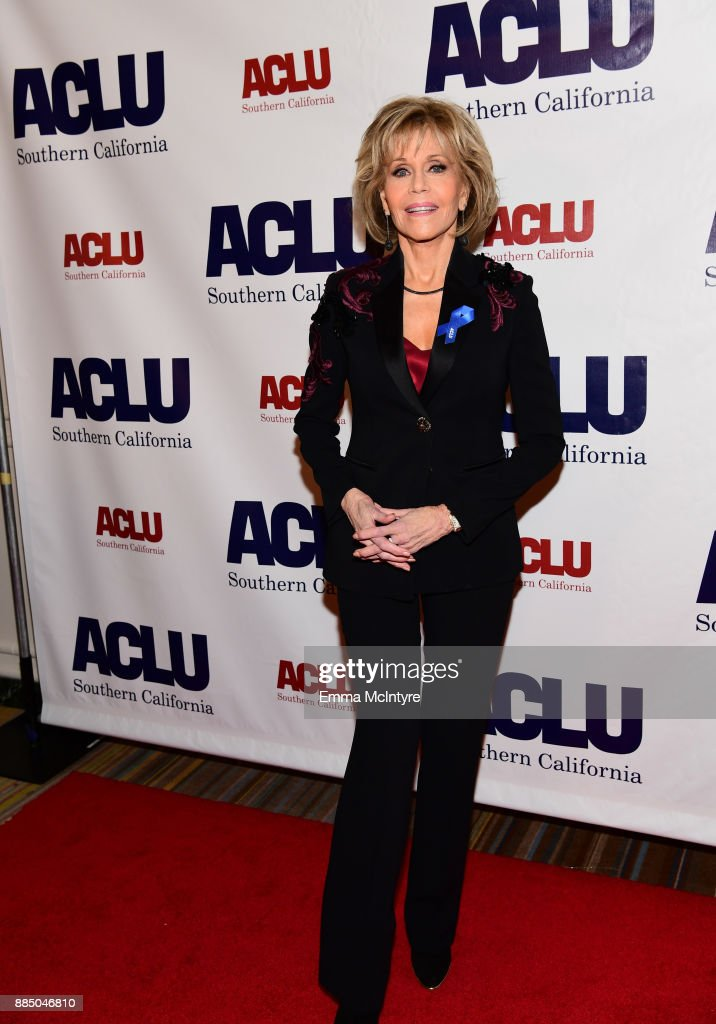Jane Fonda attends ACLU SoCal Hosts Annual Bill of Rights Dinner at the Beverly Wilshire Four Seasons Hotel on December 3, 2017 in Beverly Hills, California.