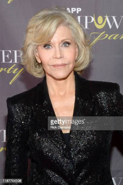 """Jane Fonda attends """"GCAPP Empower Party to Benefit Georgia's Youth"""" at The Fox Theatre on November 14, 2019 in Atlanta, Georgia."""