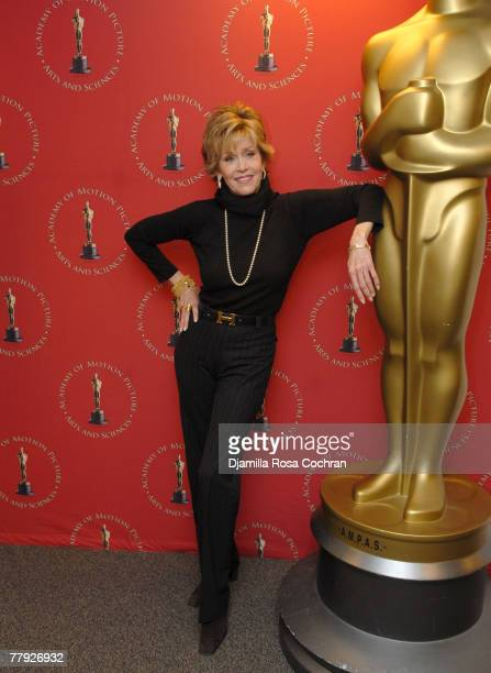 Jane Fonda attends Monday Nights With Oscar Presenting the 30th Anniversary Screening of 'Coming Home' at The Academy Theater Lighthouse...