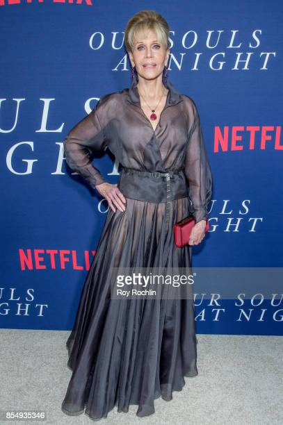 Jane Fonda attends Netflix hosts the New York premiere of 'Our Souls At Night' at The Museum of Modern Art on September 27 2017 in New York City