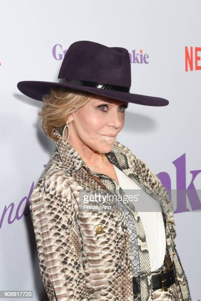 Jane Fonda attends Premiere Of Netflix's 'Grace And Frankie' Season 4 Red Carpet at ArcLight Cinemas on January 18 2018 in Culver City California