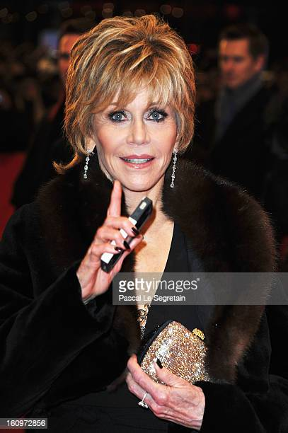 Jane Fonda attends 'Promised Land' Premiere during the 63rd Berlinale International Film Festival at Berlinale Palast on February 8 2013 in Berlin...