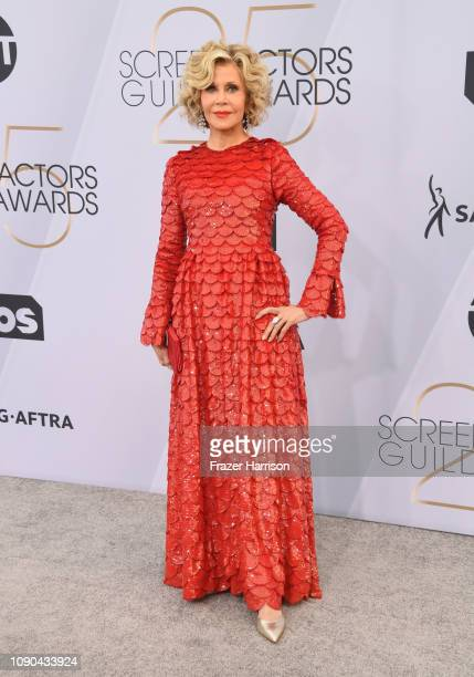 Jane Fonda attends the 25th Annual Screen ActorsGuild Awards at The Shrine Auditorium on January 27, 2019 in Los Angeles, California.
