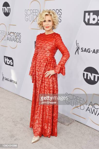 Jane Fonda attends the 25th Annual Screen Actors Guild Awards at The Shrine Auditorium on January 27 2019 in Los Angeles California