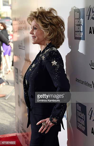 Jane Fonda attends the 42nd Chaplin Award Gala at Alice Tully Hall Lincoln Center on April 27 2015 in New York City